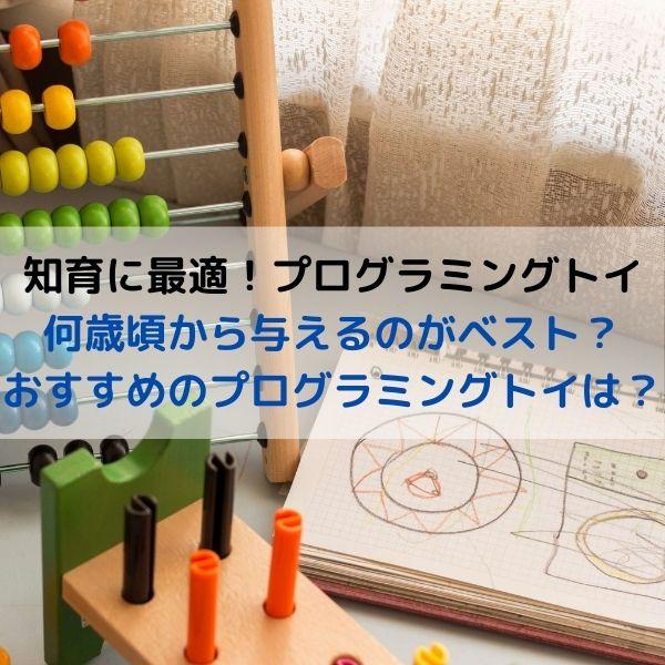 知育玩具はプログラミングトイがおすすめ