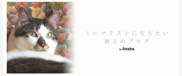 ミニマリストになりたい秋子のブログ