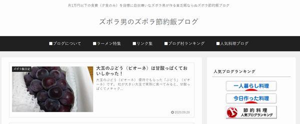 ズボラ男のズボラ節約飯ブログ