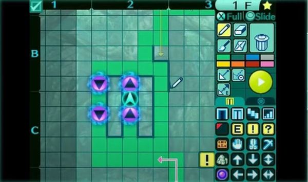 3ds_新世界樹の迷宮2_ダンジョンマップ